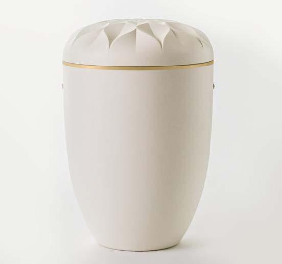 Hydria urne i hvid der kan tegnes på og gøres personlig