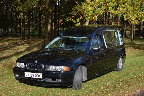 rustvogn til transport af kiste BMW520