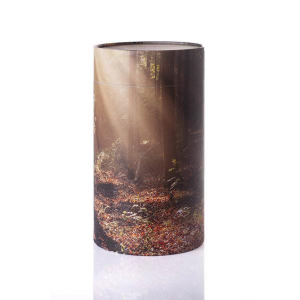 Urne til askestrøning med skov