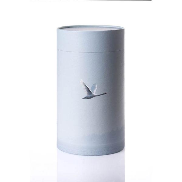 Urne til askestrøning med fugl